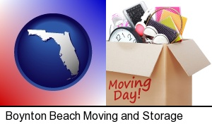 moving day in Boynton Beach, FL