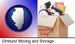 moving day in Elmhurst, IL