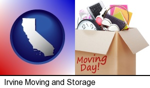 Irvine, California - moving day