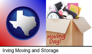 moving day in Irving, TX