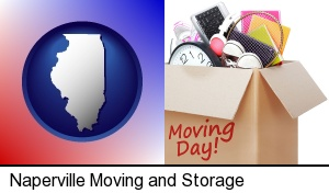 Naperville, Illinois - moving day