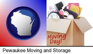 moving day in Pewaukee, WI