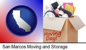 moving day in San Marcos, CA