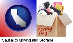 moving day in Sausalito, CA