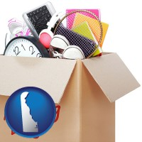 delaware map icon and moving day