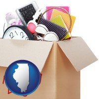 illinois map icon and moving day