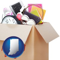indiana map icon and moving day