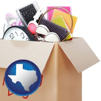 texas map icon and moving day